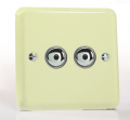 Varilight Pastel 2 x 250W 1-Way Remote Control/Touch Eclique Master Dimmer White Chocolate